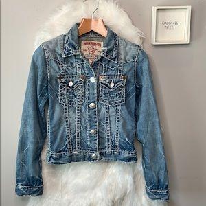 True Religion •Jimmy Super T distressed jacket